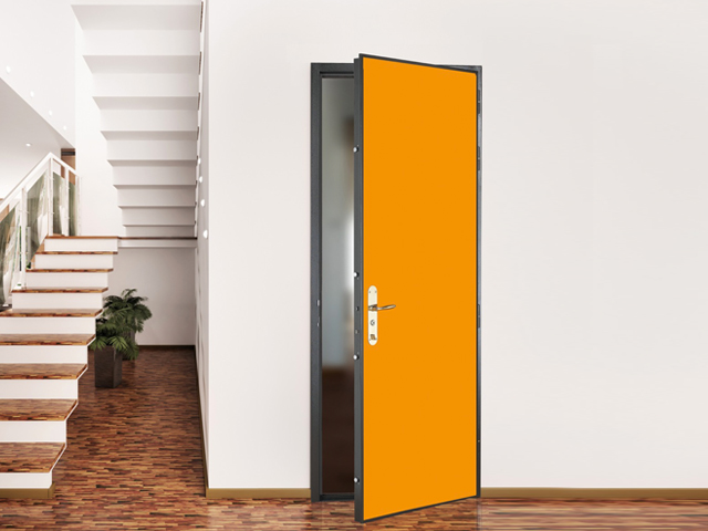Porte blindée jaune