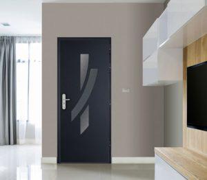 Porte blindée noire design
