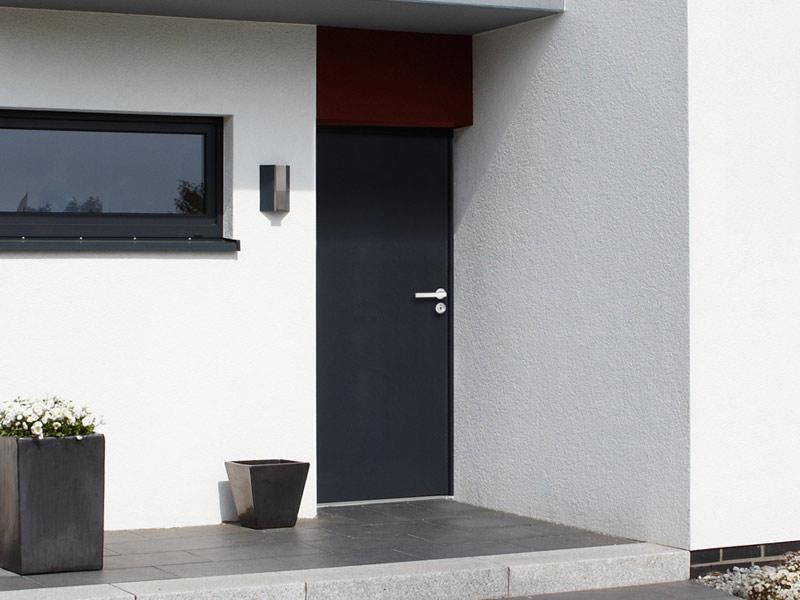 Porte blindée entrée (noire)